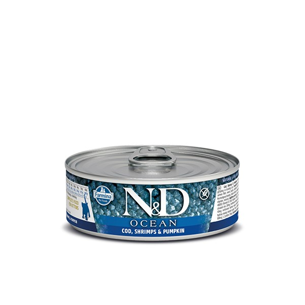 N&D Can Cat Ocean Kitten Codfish&Shrimps&Pumpkin