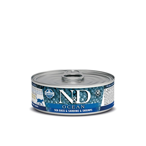 N&D Can Cat Ocean Sea Bass&Sardine&Shrimps