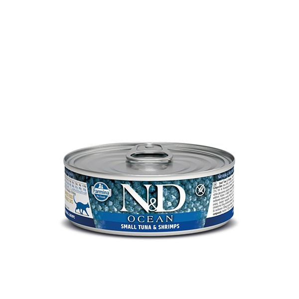 N&D Can Cat Ocean Sea Small Tuna&Shrimps