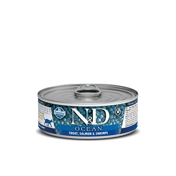 N&D Can Cat Ocean Trout&Salmon&Shrimps