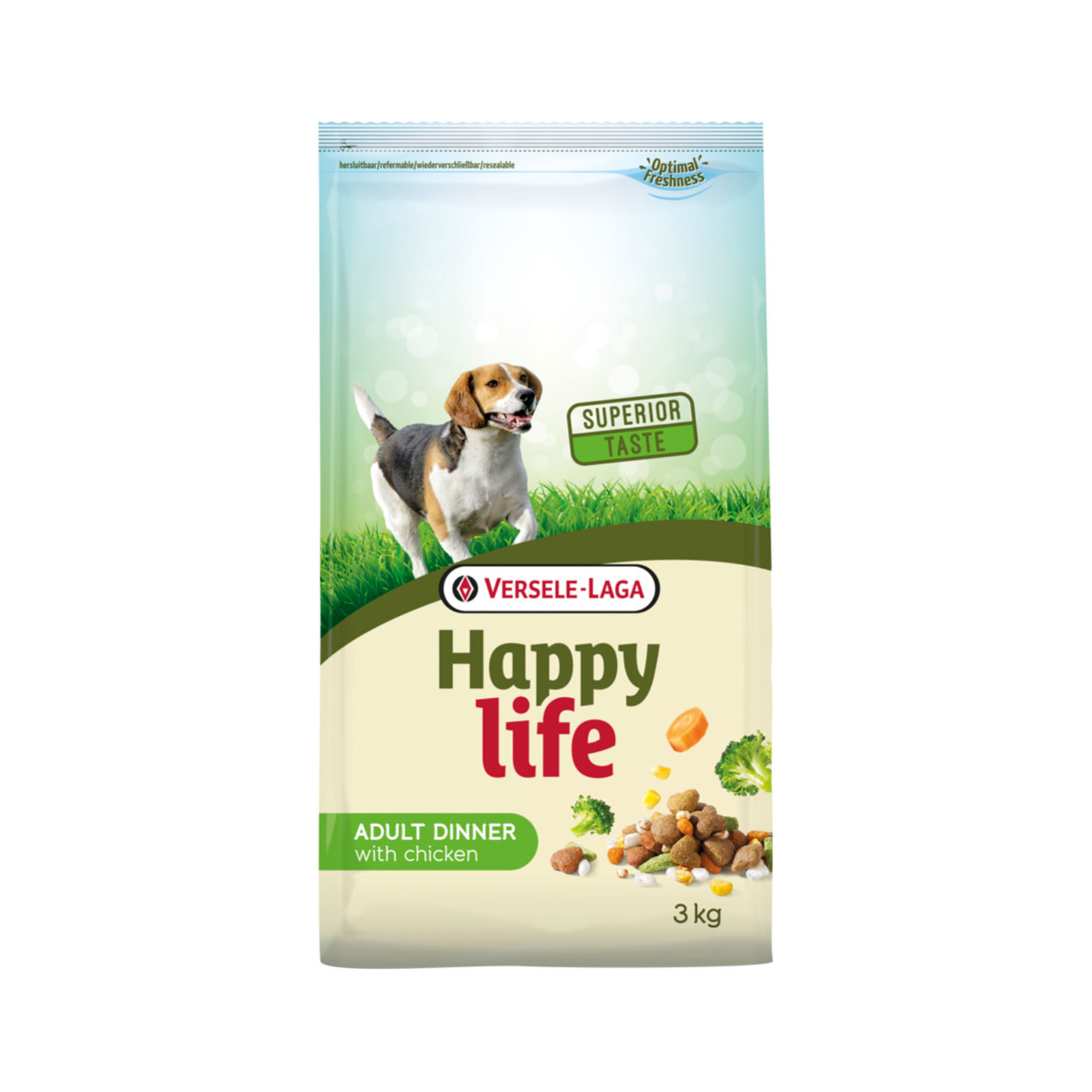 Versele Laga - Happy life Chicken  - Hrana za odrasle pse, piletina