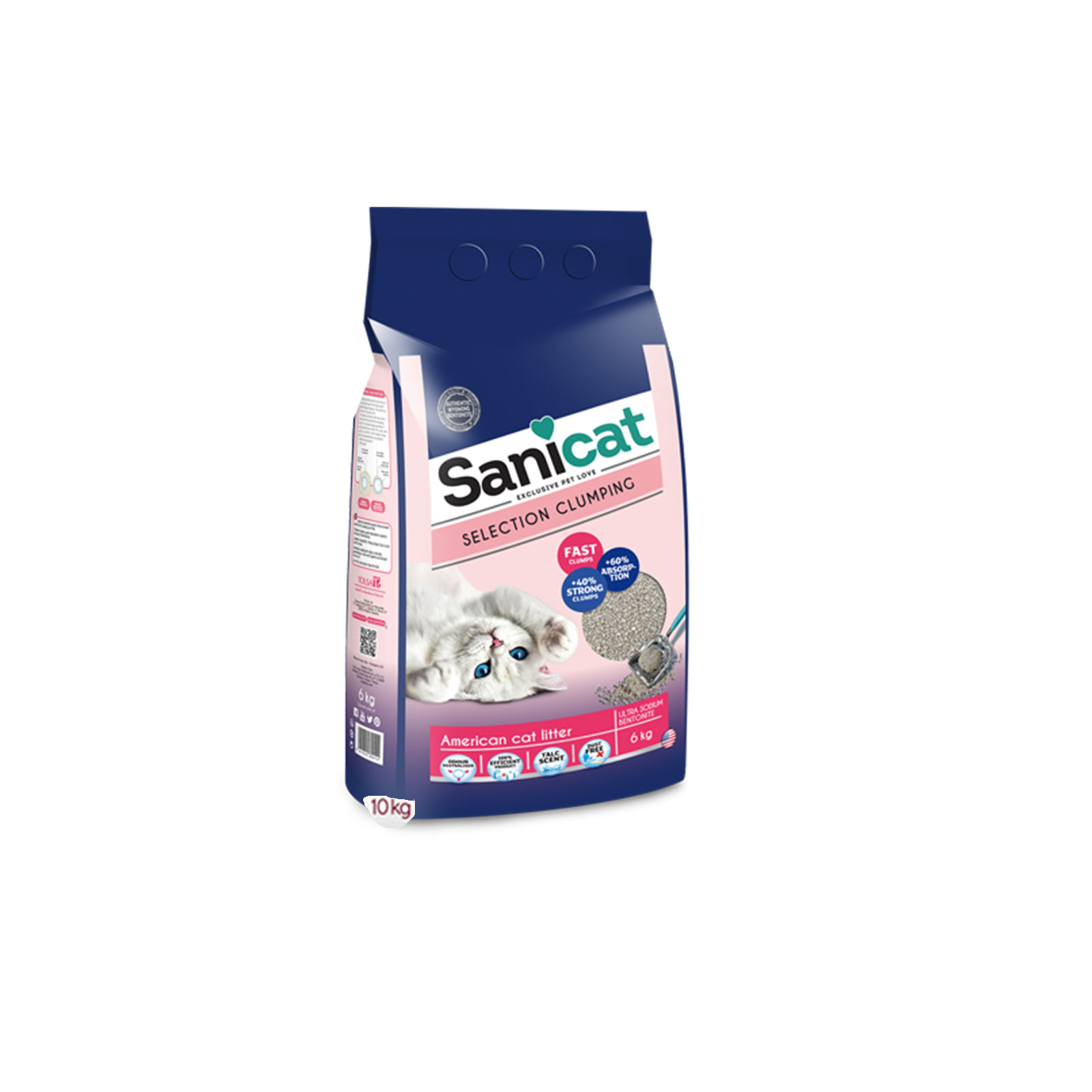 Sanicat - Selection Clumping American - Posip za mačke, najkvalitetnij američki bentonit