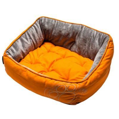 Rogz Krevet za pse duzina, narandzasta sa sapama