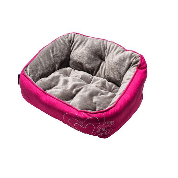 Rogz Krevet za pse, pink sa srcima