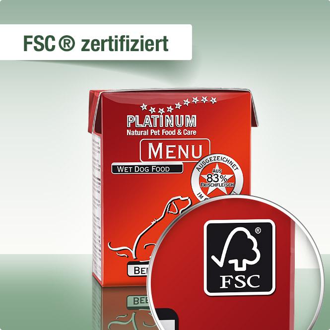 Platinum menu - Vlazna hrana za pse, govedina I piletina