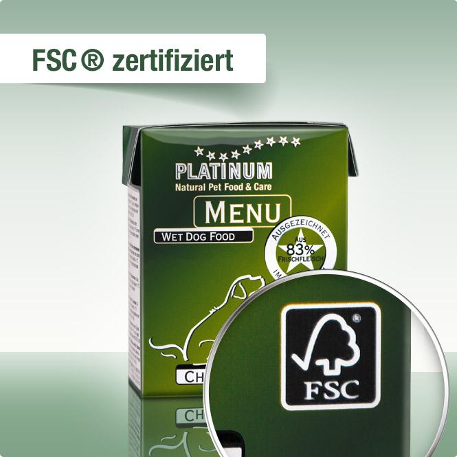 Platinum menu - Vlazna hrana za pse, piletina