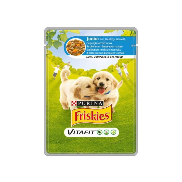 FRISKIES Dog Junior sos piletina i šargarepa