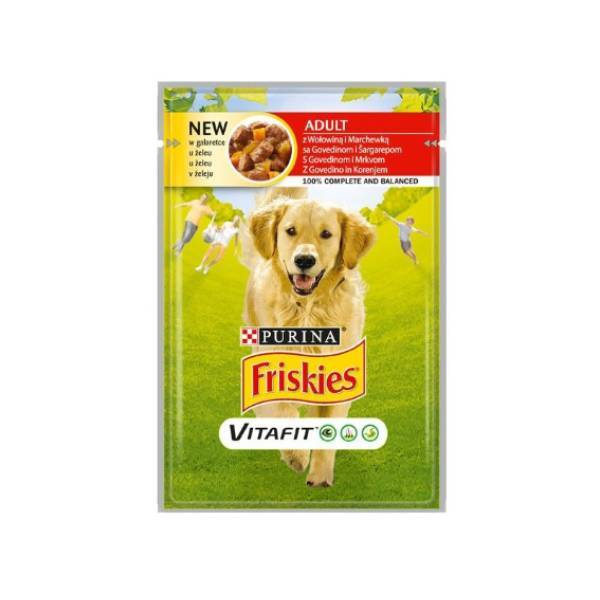 FRISKIES Dog Adult sos govedina i šargarepa u želeu