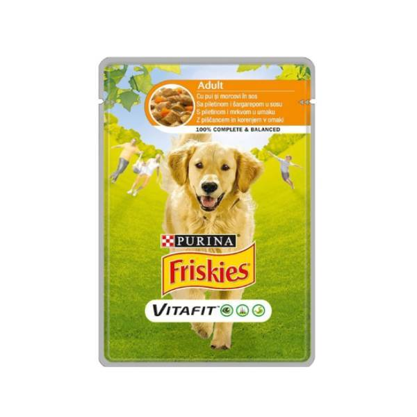FRISKIES Dog Adult sos piletina i šargarepa