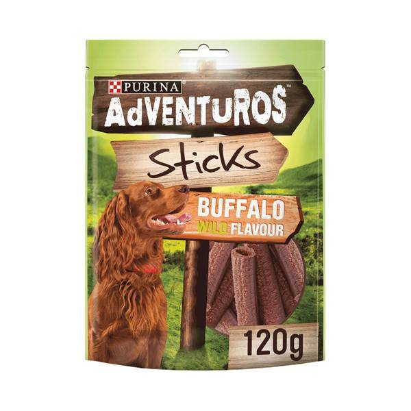 Purina Adventuros Sticks Dog, bizon