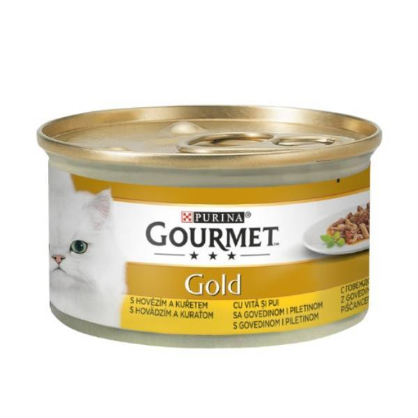 GOURMET Gold Cat Duo Govedina i piletina u sosu