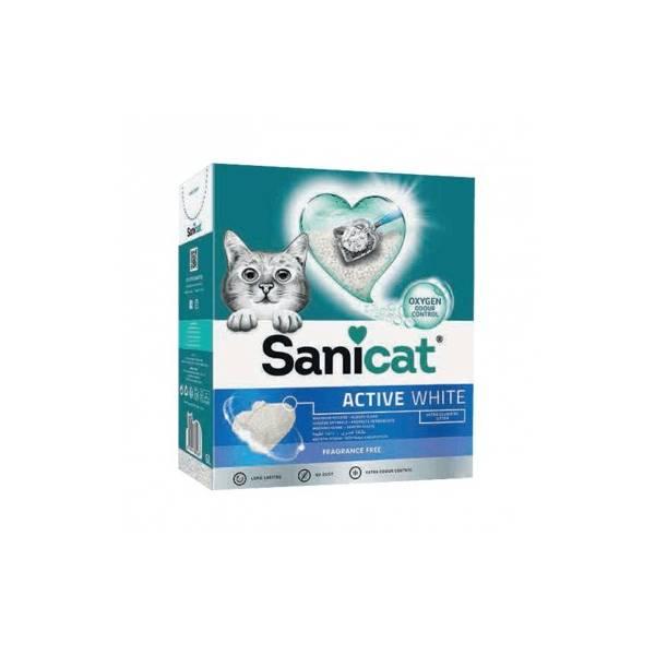 Sanicat Active White, ekstra grudvajući posip od čistog belog bentonita sa aktivnim kiseonikom