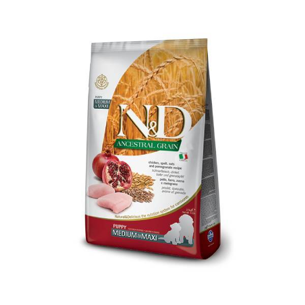 FARMINA N&D Ancestral Grain Puppy Medium & Maxi Chicken & Pomegranate