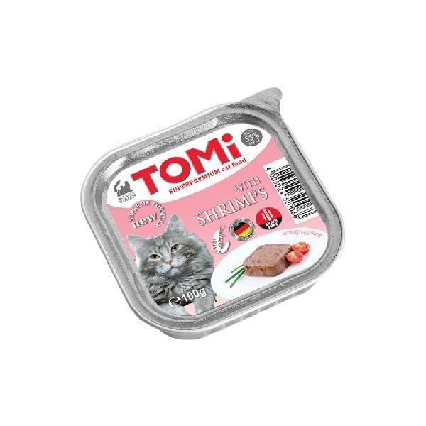 Tomi pašteta za mačke, škampi