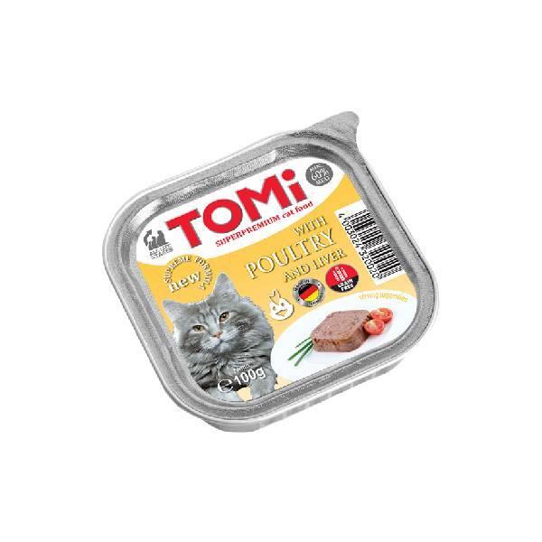 Tomi pašteta za mačke, živina/jetra