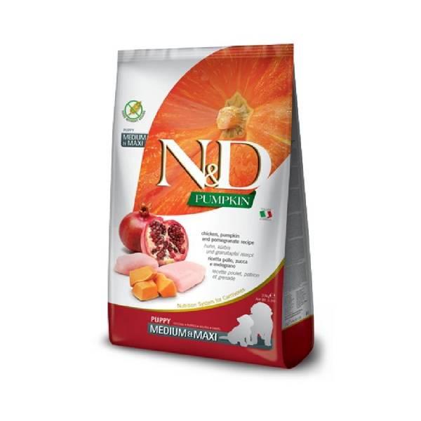 Farmina N&D Pumpkin Puppy Medium&Maxi Chicken&Pomegranate