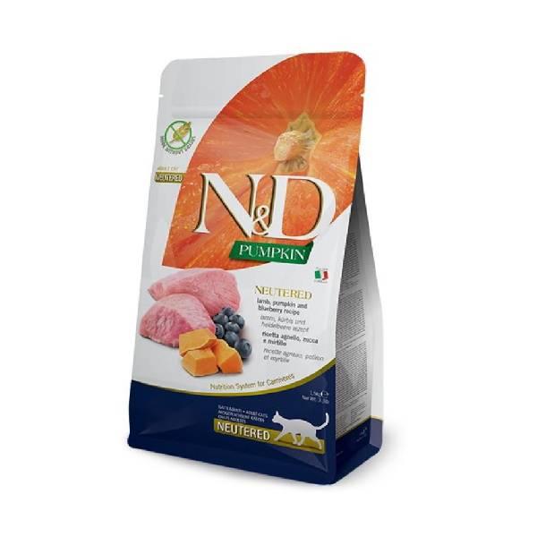Farmina N&D Pumpkin Cat Lamb&Blueberry Neutered Adult