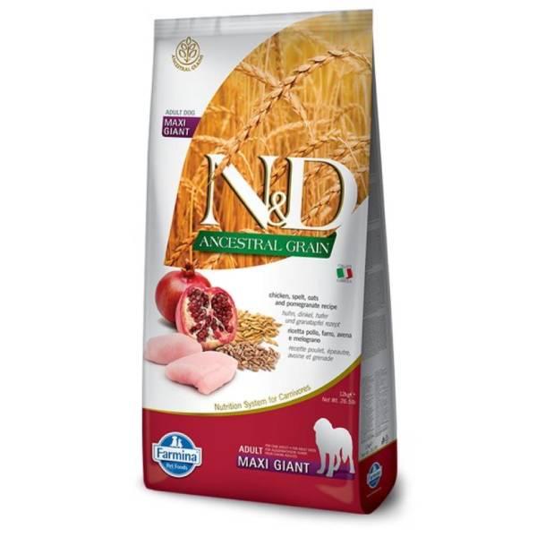 Farmina N&D Ancestral Grain Chicken, Spelt, Oats&Pomegranate Adult Giant Maxi