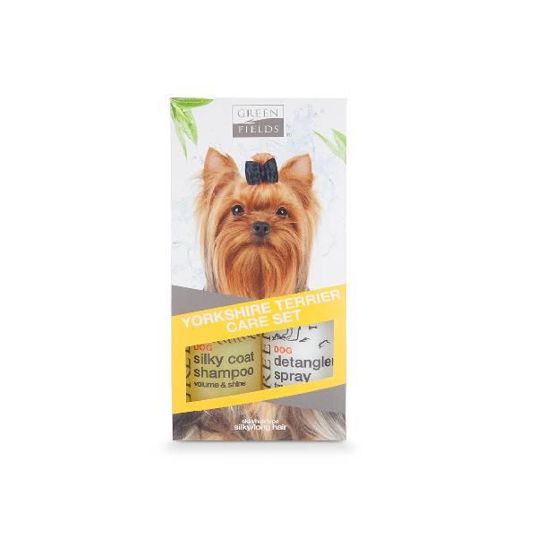 Greenfields Yorkshire Terrier Care Set, šamponi za suvo pranje posebno dizajnirani za terijere