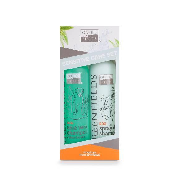 Greenfields Sensitive Care Set , šamponi za suvo pranje posebno dizajnirani za osetljive pse