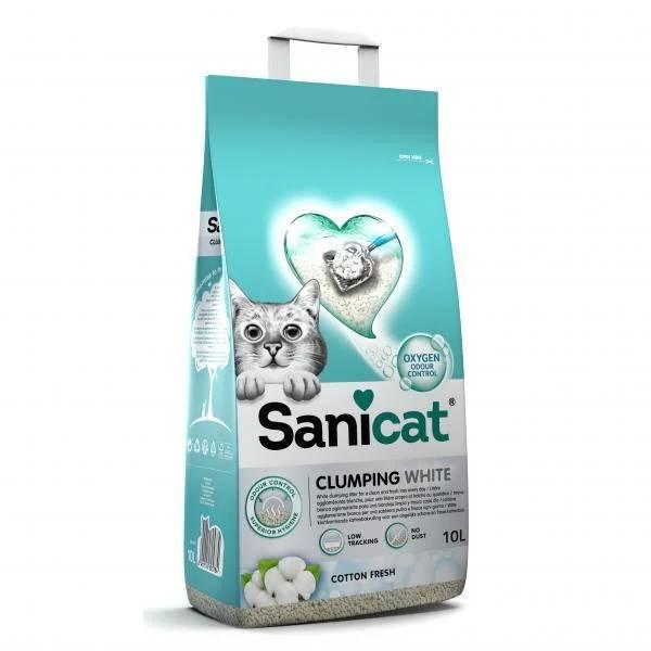 Sanicat Clumping White, ultraupijajući bentonitni posip za mačke