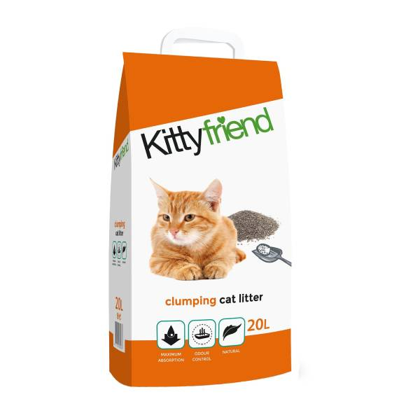Sanicat KittyFriend Clumping, ultraupijajući posip za mačke napravljen od 100% bentonita