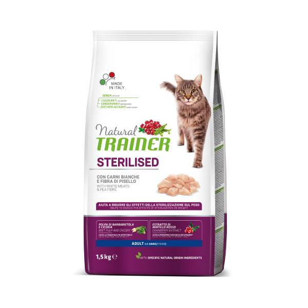 Trainer Natural Cat Adult Sterilized fresh white meats