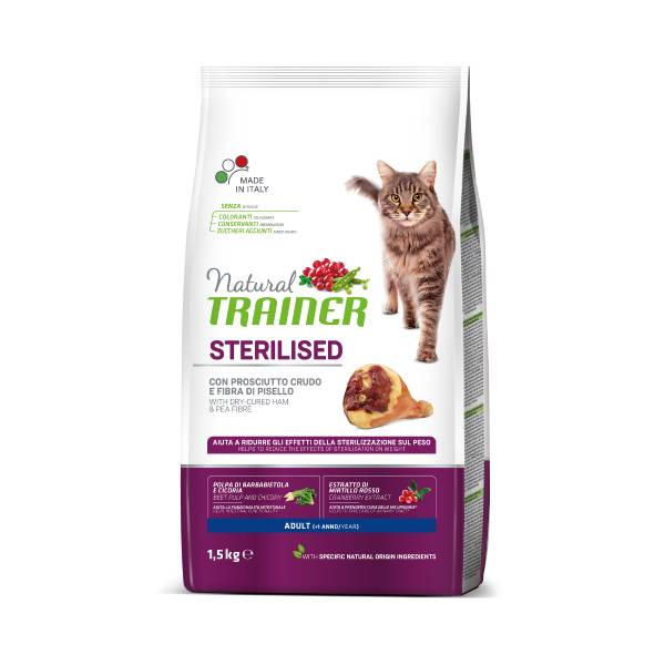 Trainer Natural Cat Adult Sterilized dry cured ham
