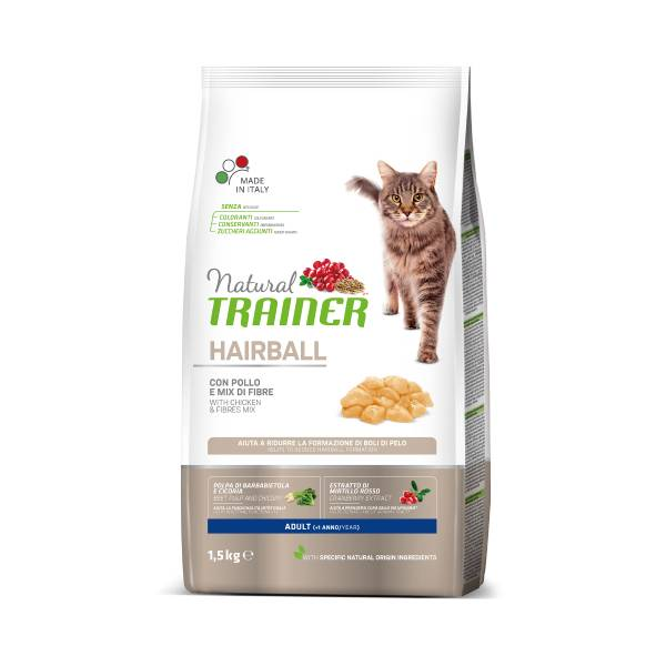 Trainer Natural Cat Hairball Adult with chicken
