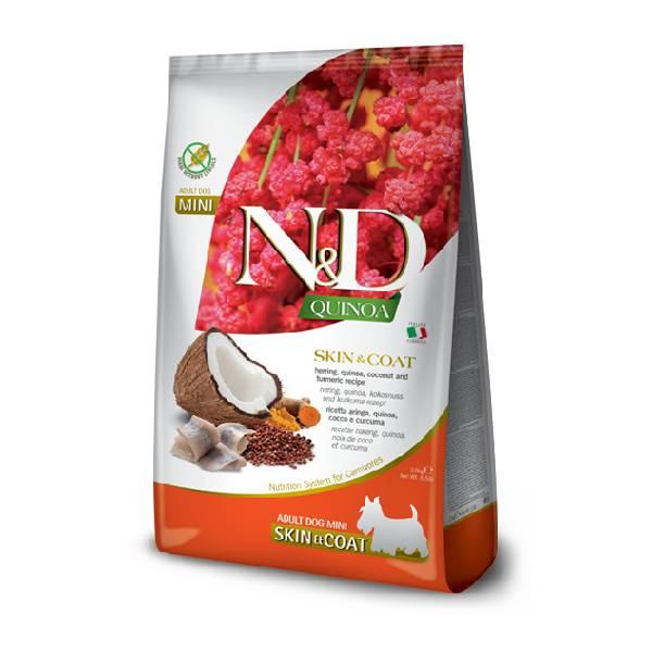 Farmina N&D Grain Free Quinoa Skin&Coat Herring, Coconut & Curcuma Mini