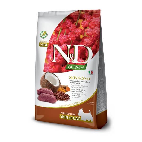Farmina N&D Grain Free Quinoa Skin&Coat Venison, Cocunut & Curcuma Mini