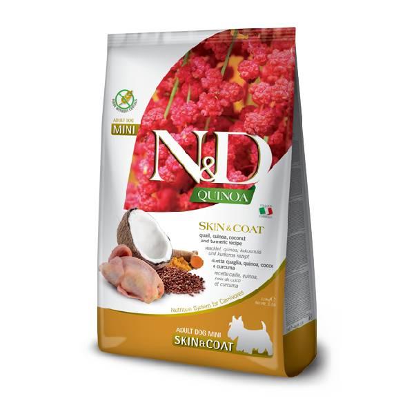Farmina N&D Grain Free Quinoa Skin&Coat Quail, Coconut & Curcuma Mini