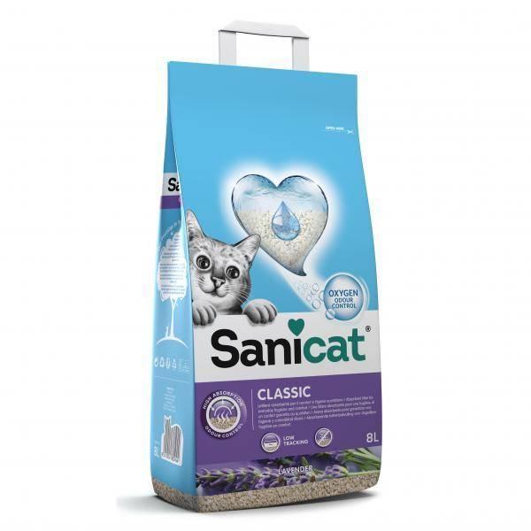 Sanicat Classic Lavender, negrudvajući posip za mačke sa nežnim mirisom lavande