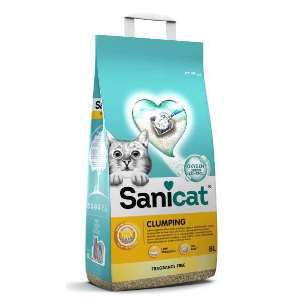 Sanicat Clumping Unscented, grudvajući posip napravljen od čiste bele bentonitske gline sa dodatkom sode bikarbone