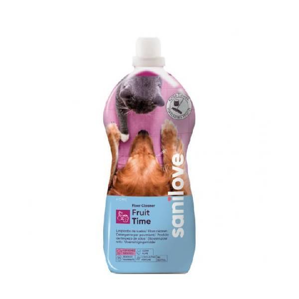 Sanicat Sanilove Floor Cleaner Fuit Time, univerzalni koncentrat sa svežim svežeg voća za čišćenje svih tipova podnih površina
