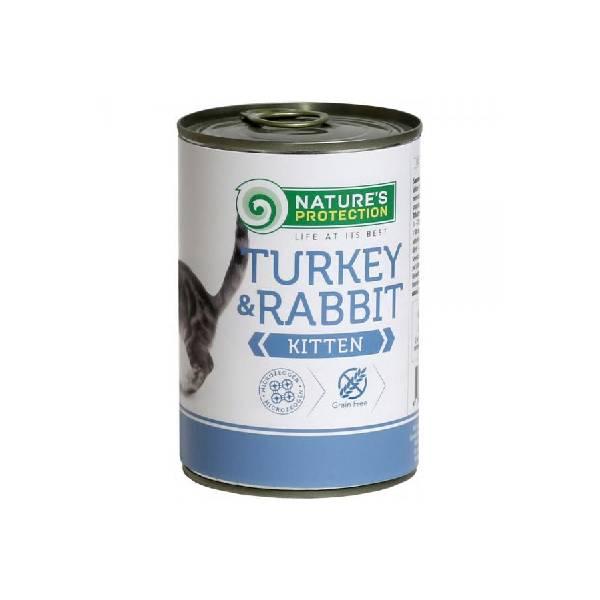Natures Protection Can Kitten Turkey & Rabbit