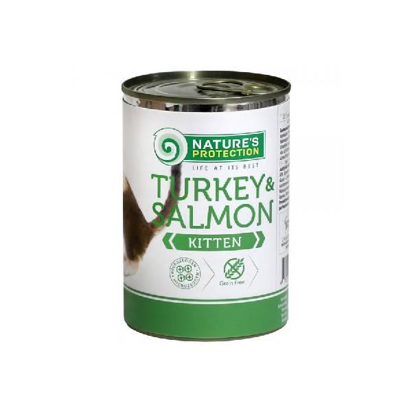 Natures Protection Can Kitten Turkey & Salmon