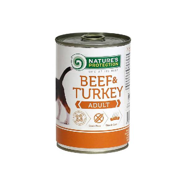 Natures Protection Can Dog Beef&Turkey