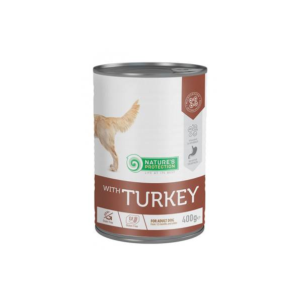 Natures Protection Can Dog Sensitive Turkey