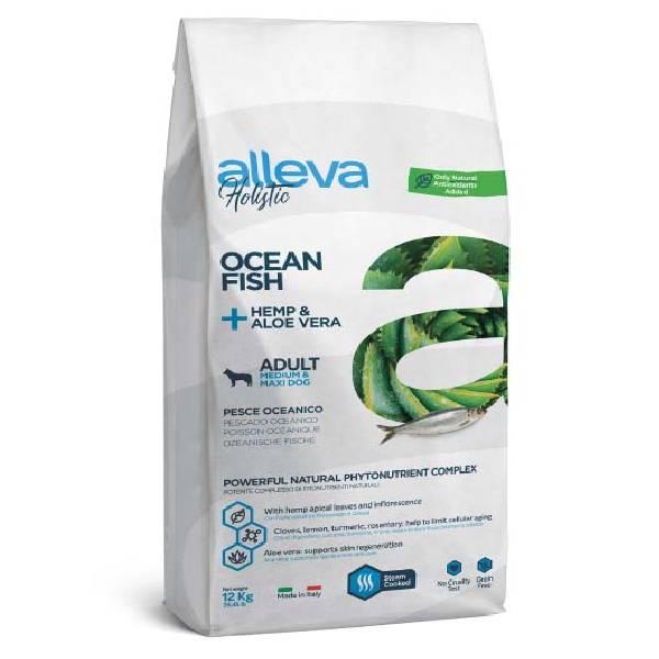 Alleva Holistic Adult Medium/Maxi okeanska riba sa industrijskom konopljom i aloe verom