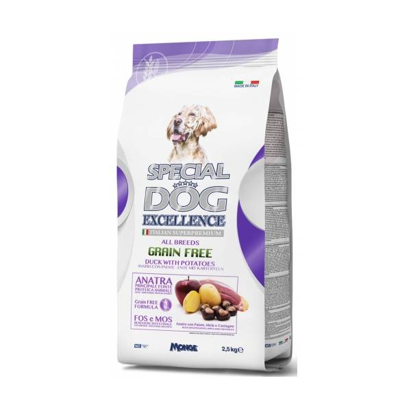 Monge Grain Free All Breeds Puppy Duck and Potatoes