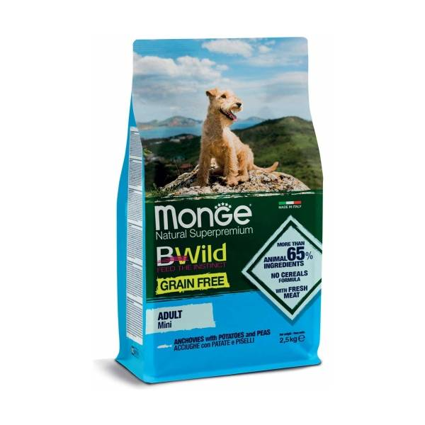 Monge Grain Free Mini Adult Anchovies, Potatoes and Peas