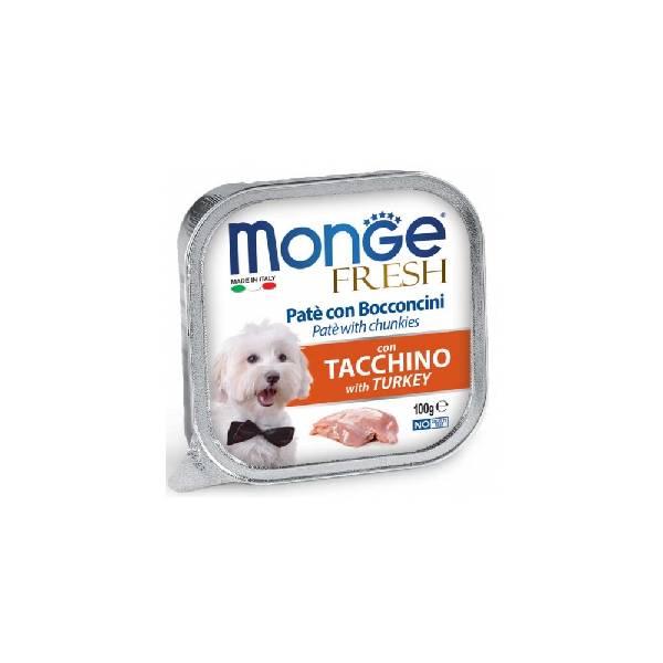 Monge Fresh Turkey, pašteta za pse sa ukusom ćuretine