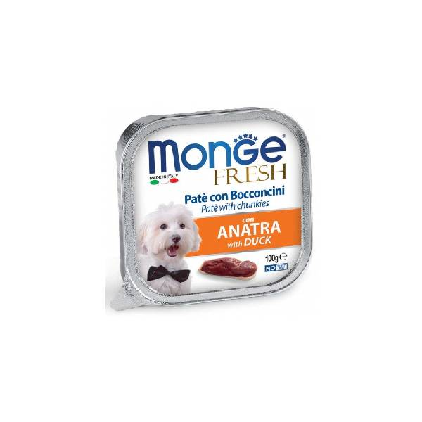 Monge Fresh Duck, pašteta za pse sa ukusom pačetine