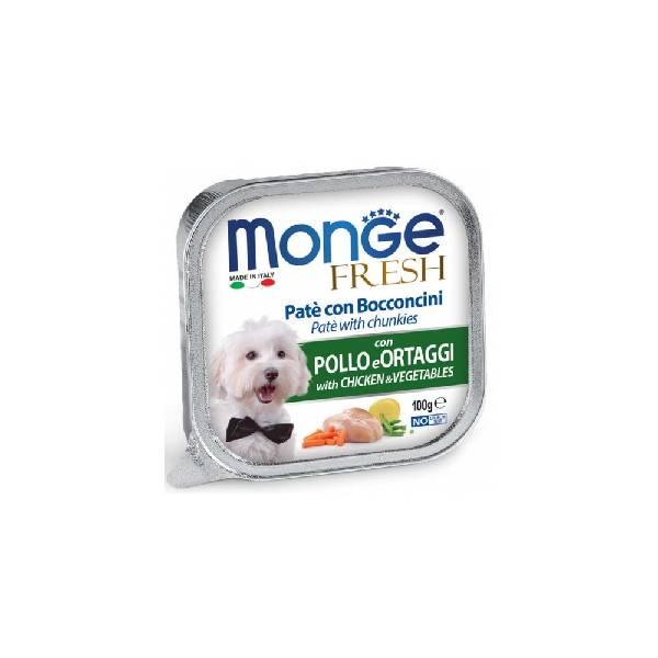 Monge Fresh Chicken and Vegetables, pašteta za pse sa ukusom piletine i povrća