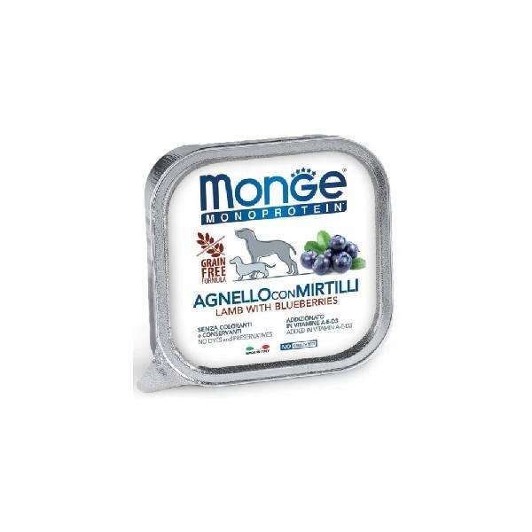 Monge Dog Fruit Lamb with Blueberries, pašteta za pse sa ukusom jagnjetine i borovnica