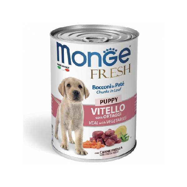 Monge Fresh Puppy Veal with Vegetables, konzervirana hrana za štence sa ukusom teletine i povrća