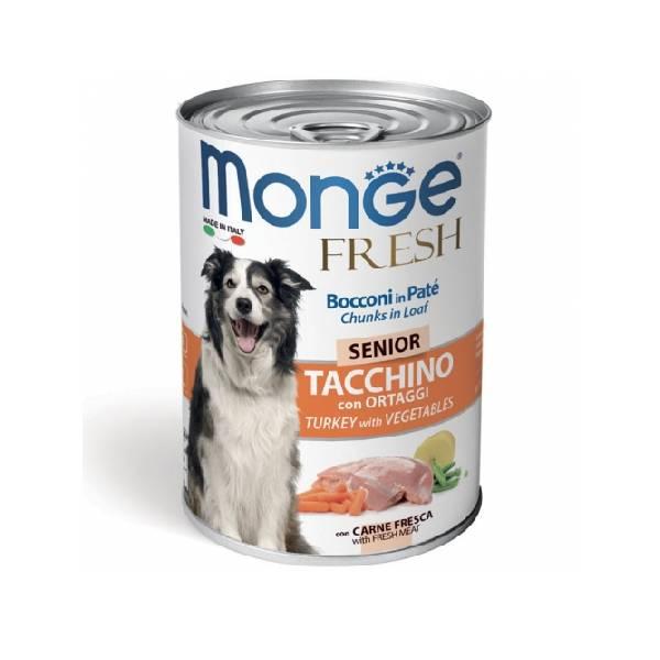 Monge Fresh Senior Turkey with Vegetables, konzervirana hrana za starije pse sa ukusom ćuretine i povrća