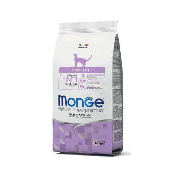 Monge Cat Sterilized Rich in Chicken | Apetit shop - Online prodaja hrane i opreme za kućne ljubimce