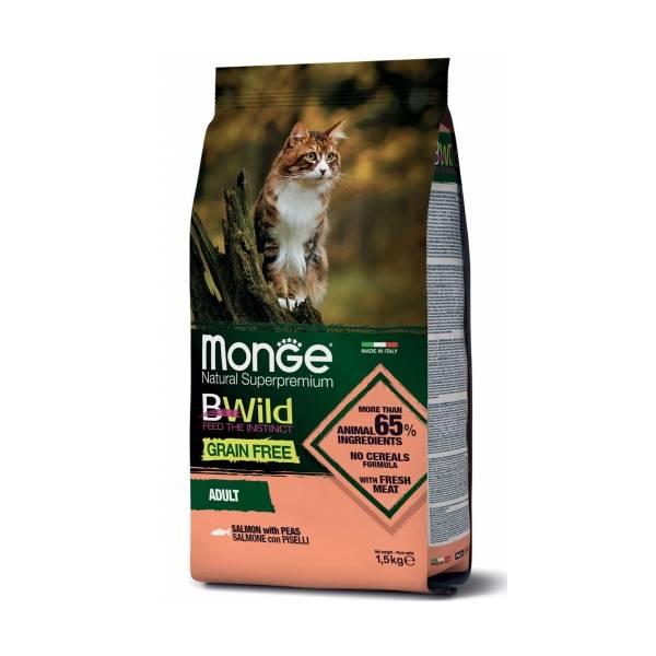 Monge Bwild Cat Grain Free Salmon and Peas
